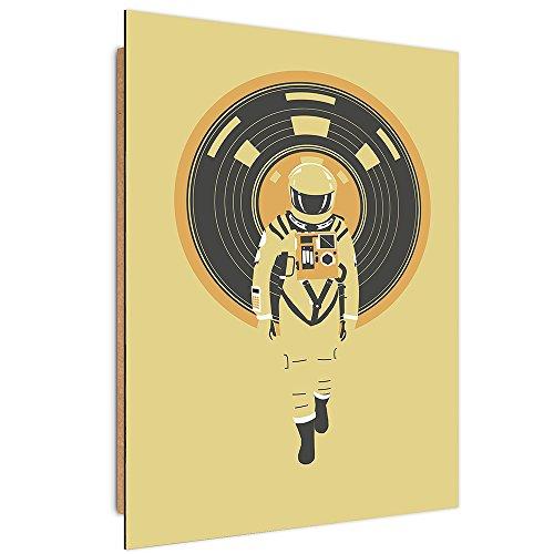 Feeby. Cuadro decoración - 1 Parte - 40x60 cm, Imagen Pintura Impresión Deco Panel, DJ Hal 9000 - Robert Farkas, ASTRONAUTA, ILUSTRACIÓN, AMARILLO