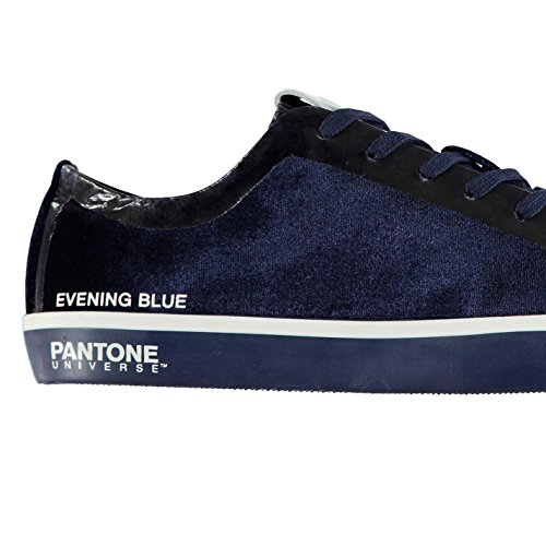 Pantone Hommes Rea Basses Chaussures Baskets Basses Tennis Sport Gym Evening Bleu