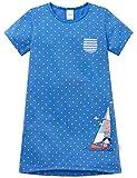 Schiesser Mädchen Maritim Nachthemd 1/2, Blau (Blau 800), 128