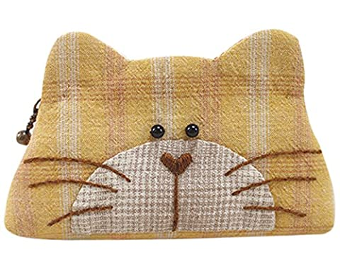Kitty Purse Easy Sewing Project First Sewing Kit Complete Kit with Pattern and Fabric (Yellow