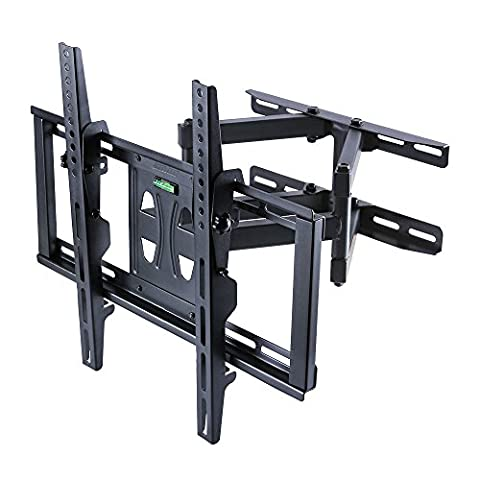 UNHO support TV mural inclinable et pivotant bras double cantilever