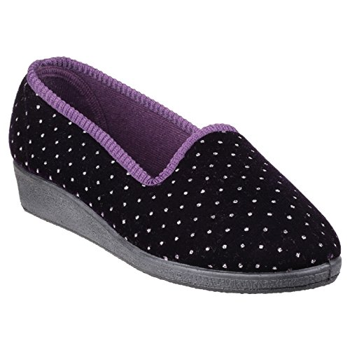 Pantofole donna Nero Mirak nero Womens motivo da Shelley q5cSf