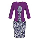 CYimejo Elegant Women's Office Knee-Length Pencil Bodycon Office 708-11 M