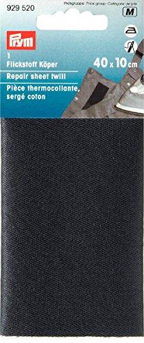 Prym Pice thermocollante, serg Coton, thermocollant, 40x10 cm Noir