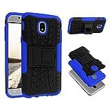 ECENCE Samsung Galaxy J5 (2017) Outdoor Case Schutz-Hülle Handy-Tasche Silikon Hybrid Bumper Cover Etui Blau 42030406