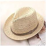 Sombrero de Paja de Verano Hecho a Mano de Moda para Mujer Sombrero para el Sol Sombrero de Panamá Sombrero de Playa de Boho Sombrero de Panamá