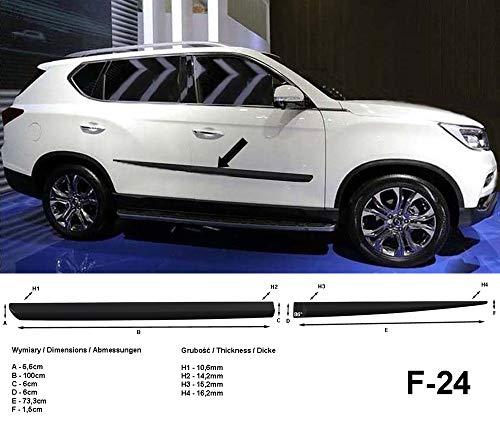 Seitenschutzleisten schwarz für SsangYong Rexton W II 2. Gen. ab Baujahr 03.2017- F24