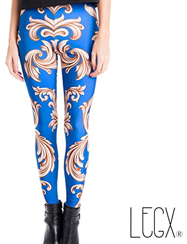 Leggins Floreados Azul