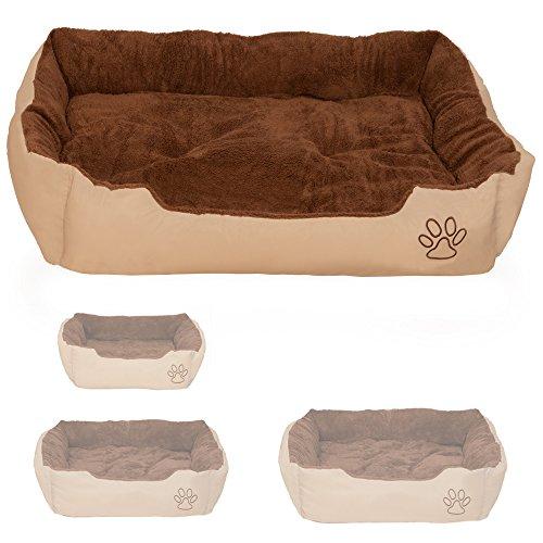TecTake Lettino per cane cuscino una coperta per gli animali cuccia cane lettino - disponibili in diverse misure - (XXL - 110x80x18 | no. 401422)