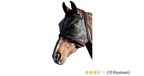 Harrys Horse Fliegenschutzmaske Gesichtsmaske ohne Ohren mit Synthetic Fell