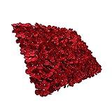 Baoblaze Künstliche Blumen Säule Kunstblumen Wand Blumenwand für Schaufenster Straße Hochzeit Dekoration - Rot