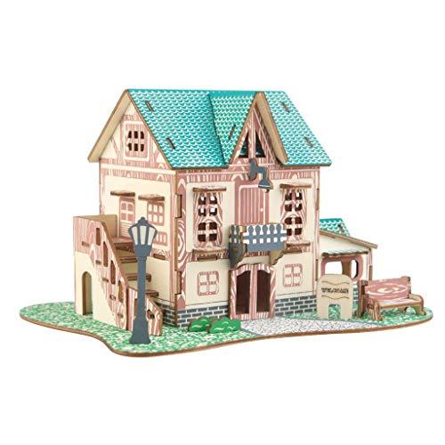 YQCSLS Kleines Hotel Gebäude Puzzle Modell Pädagogisches Spielzeug Montage Modell Architektonische Kinder Erwachsene Handgefertigte Kunst Spielzeug Stichsägen