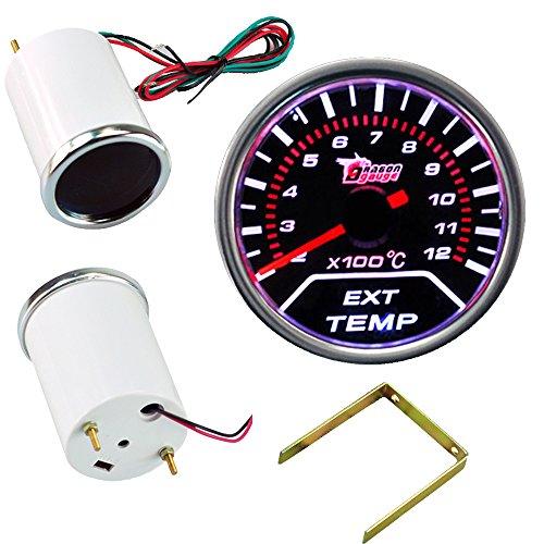 """Preisvergleich Produktbild Mintice 2"""" 52mm LED Licht Kfz Auto Universal Abgastemperaturanzeige EGT 0-1200¡æ Anzeige Gauge Rauchfarbe Len"""