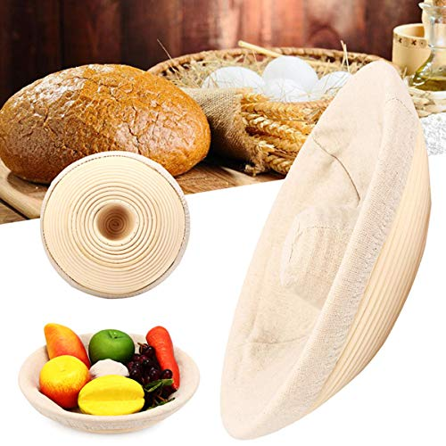 Anddod Handmade Round Oval Banneton Bortform Rattan Storage Baskets Bread Dough Proofing Liner - 29 * 6.5cm - 29 * 6.5cm Bread Basket Liner