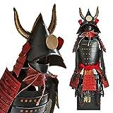 Guerrier samouraï - noir/rouge - Kuroda Clan Shogun Japanese Samurai Armure Miniature Statue