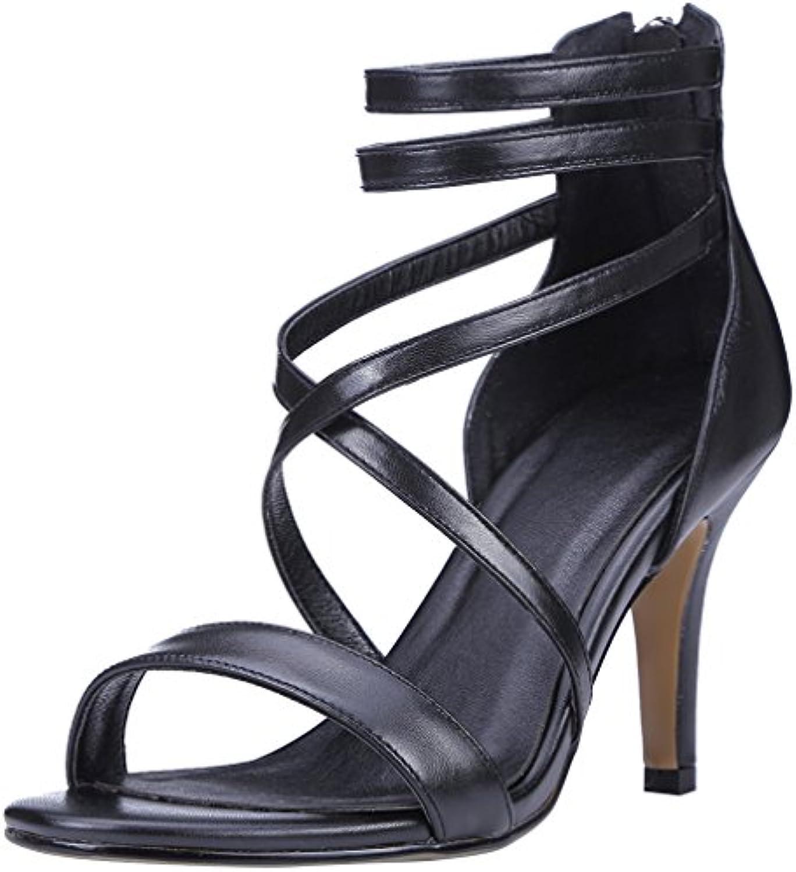 Calaier Donna Salbn 8.5CM Tacco A Spillo Cerniera Sandali Sandali Sandali Calzature | Qualità E Quantità Assicurata  86c33b