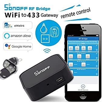 3 In 1 Kits:sonoff Rf Bridge Wifi 433mhz + Pir2 Pir Infrared Human Sensor + Dw1 Door & Window Alarm Sensor For Smart Home Remote Control By Ios Android Works With (Amazon Alexa Google Home) 4
