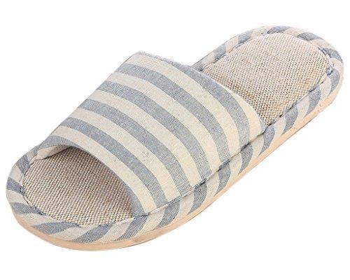 minetom-donne-uomini-unisex-pantofole-morbido-lino-interno-scarpe-coppia-pantofole-azzurro-38