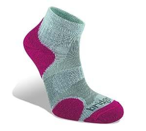 Bridgedale Coolfusion Multisport Women's Sock - Grey/Raspberry, 3-4.5