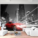 Fototapete Auto Stadt 352 x 250 cm - Vlies Wand Tapete Wohnzimmer Schlafzimmer Büro Flur Dekoration Wandbilder XXL Moderne Wanddeko - 100% MADE IN GERMANY - 9303011b