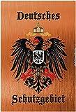 Deutsches Schutzgebiet wappen mit adler, bronze, schild aus blech, tin sign,
