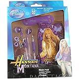 Emartbuy Original Disney Hannah Montana Music Pack Of Purple In-Ear-Stereo-Kopfhörer, Kabel ordentlich und Pouch / Case / Cover / Socken passend für Samsung S6500 Galaxy Mini 2