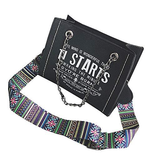Große Kapazität Diagonaltasche, einfache vielseitige Tasche Schwarz 21 * 16 * 8cm