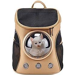 Patente innovadora Cargador mochila de mascotas en forma de burbuja, bolsas aprobadas para gatos y perros.