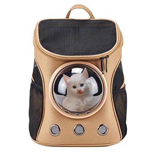 Tela capsula spaziale portatile zaino per cani gatti traspirante trasparente per uscire il sacchetto portatile piccolo del gatto
