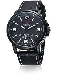 NAVIFORCE - Reloj de cuarzo para hombres, impermeable, analógico, estilo militar y deportivo, color blanco