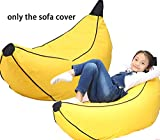 quwei Banana Form Sitzsack, niedliches Kinder Little Chair Cozy Lazy Sofa Kinder Couch