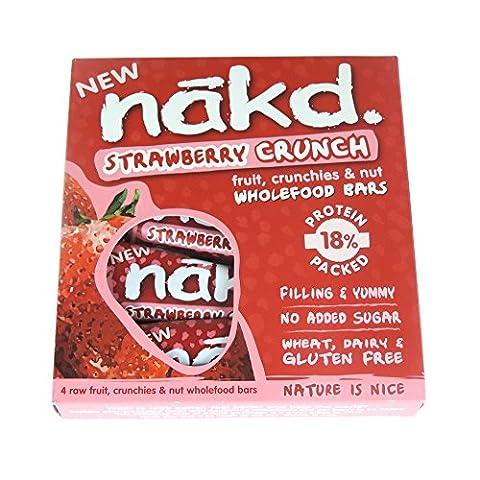 Nakd Free From Strawberry Crunch Fruit & Nut Bar Multipack 4 x 30g