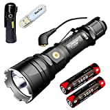 Klarus XT12GT Tactics Torches CREE XHP35 HI D4 LED 1600 Lumen Magnetic Tactics Flashlight Rechargeable Powerful Torch Light Included 2 * 3600mAh 18650 Battery + USB Lamp (XT12GT + 2 * 3600mAh batteries)