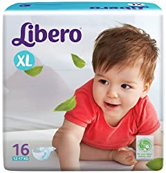 Libero Open Extra Large Size Diapers (16 Counts)