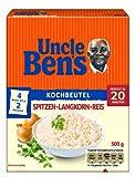 Uncle Ben's Spitzen-Langkorn-Reis 20-Minuten Kochbeutel, 4er Pack (4 x 500g)