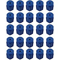 Generic Ac Servizio Di Porta Ricarica R134a 13mm Tappo Condizionatore D'aria A Bassa Lato 25pcs (R134a Porta Di Servizio)