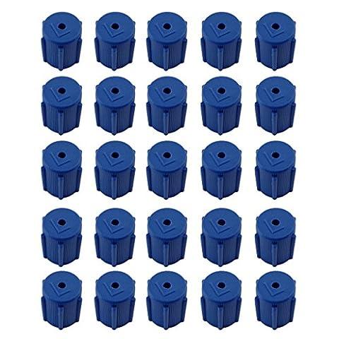 MagiDeal 25pcs Bleu Capuchon de Climatiseur Pressesion Basse AC Service de Port de Charge R134A (R134a Porta Di Servizio)