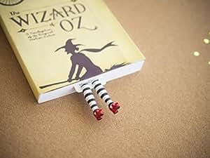 """Marque-page """"sorcière malfaisante"""" fait à la main. Inspiré par le magicien d'OZ. Très beau cadeau ! Marque page """"escarpins rouges"""""""