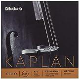 D\'Addario Bowed Jeu de cordes pour violoncelle D\'Addario Kaplan, manche 4/4, tension Medium