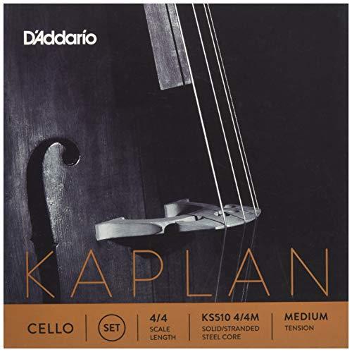 D'Addario KS510-4/4M Kaplan - Muta di corde per violoncello 4/4, con anima in acciaio, tensione: Medium