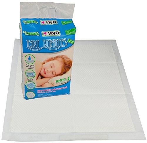 vivoc-30-disposable-mattress-sheet-incontinence-protector-pads-baby-toddler-training