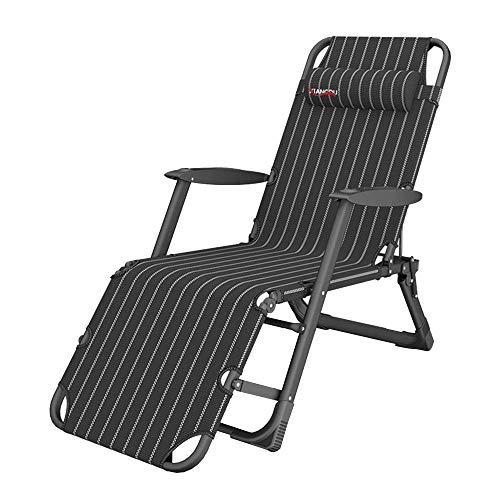 XUE Schaukelstuhl Liegender Gartenliegestuhl, klappbarer Sonnenliegestuhl Heavy Duty mit Verstellbarer ergonomischer Kopfstütze Verwendet Innen- und Außenbalkon Terrace Park,A - Sling Patio Möbel
