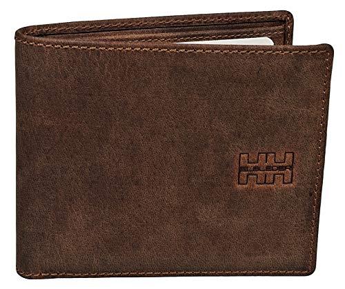 Elbleder Geldbörse Herren Leder Braun Vintage ohne Münzfach hochwertig