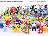 Toy Joy Cute Pokemon Series Pack of 24 Random Toys Mini Pocket Figures Generic Play Set (2-3 cms) + Free Stickers