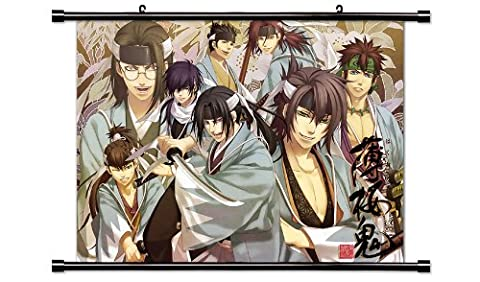"Hakuouki Shinsengumi Kitan Anime Game Fabric Wall Scroll Poster (32"" x 24"") Inches"