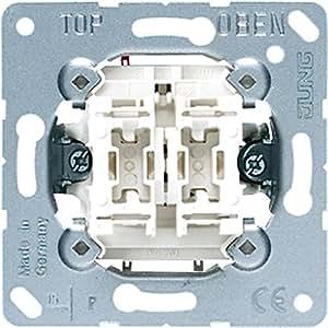 Jung 505U Mécanisme interrupteur double 10 AX / 250 V ~Double interrupteur SA