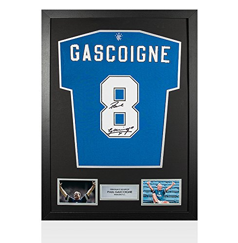 Framed-Paul-Gascoigne-Signed-Shirt-Rangers-Number-8