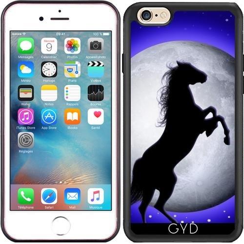 Hülle für Iphone 6 (4,7 '') - Wildpferd Auf Blauem Mond by BluedarkArt Silicone