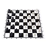 LnLyin Classic Standard Chess Set Portable Chess Board Set