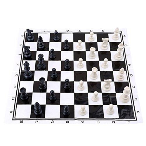 LnLyin Classic Standard Chess Set Portable Chess Board Set